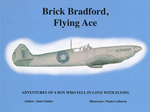 Cover of the Summerhurst Books publication of Brick Bradford, Flying Ace