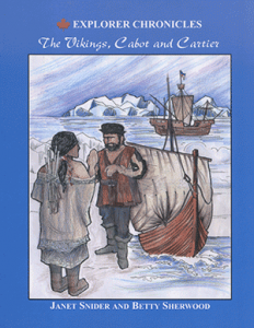 Cover of the Summerhurst Books publication of The Vikings, Cabot and Cartier